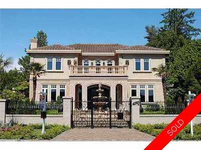 S.W. Marine House for sale:  6 bedroom 6,488 sq.ft. (Listed 2011-06-16)