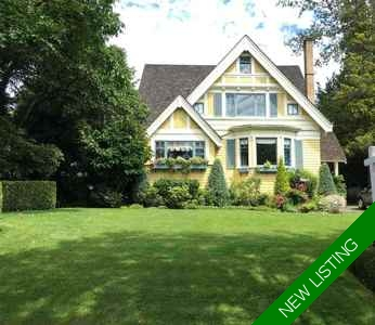 Shaughnessy House for sale:  6 bedroom 4,913 sq.ft. (Listed 2016-09-17)
